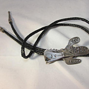 Native American Style Sterling Bolo Tie