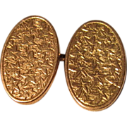 Elegant 9 KT English Edwardian Cuff Links