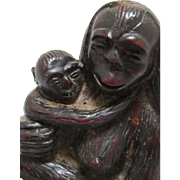Japanese Pottery Sculpture of Primate
