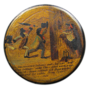 Miniature Painting on Papier Mache Snuff Box