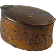 Rare Tribal Horn Snuff Box