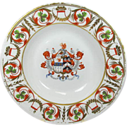 Antique Royal Crown Derby Armorial Soup Bowl