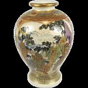 Miniature  Meiji Period Satsuma Vase