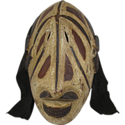 African Carved Wood Mask Igbo