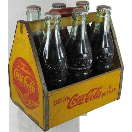 Vintage Coca Cola Bottle Carrier Sold On Ruby Lane