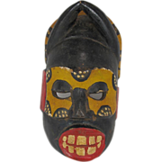 Vintage African  Painted and  Carved Mask