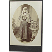 Cabinet Card Lady in Ethnic Dress