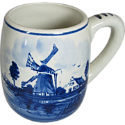 Dutch Hand painted Delft style Mug