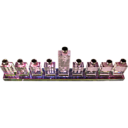 Rare Chinese Crystal Menorah/Mah Jong