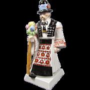 Herend Figurine Pheasant  Man Porcelain