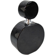 Black Glass Art Deco Perfume Bottle