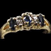 Sapphire /Diamond Ring 14K