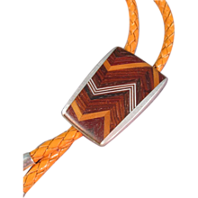Bolo Tie Pewter/Wood