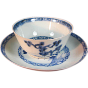 "Chinese ""  The Nanking Cargo "" Porcelain Cup & Saucer"