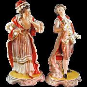 Elegant Marie & Louis Porcelain Figures