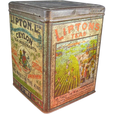 Large Old Lipton Tea Tin From Thesteffencollection On Ruby