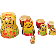 Five Russian Nesting Dolls