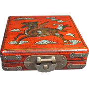 Chinese Compass in Lacquered Box - Red Tag Sale Item