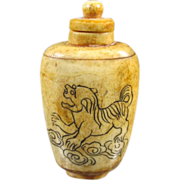 Asian Bone Snuff Bottle - Red Tag Sale Item