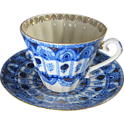 Russian Porcelain Cup & Saucer