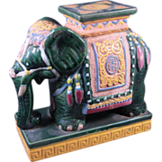 Asian Style Pottery Elephant