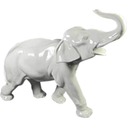 Large Porcelain Elephant from Germany