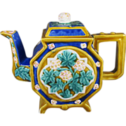 Majolica Type Tea Pot