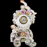 German Von Schierholz Porcelain Clock