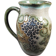Stoneware Art Pottery Pitcher