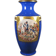 Tall Napoleon Porcelain German Vase