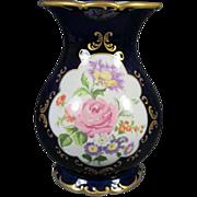 Continental Porcelain Floral Vase