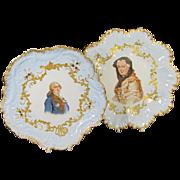 Pr Limoges Portrait Plates
