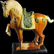 Chinese Tang-Style Sancai Glazed Horse