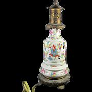 Chinese Famille Rose Vase/ Lamp