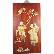 Chinese Plaque with Stone Figures
