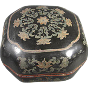 Chinese Paper-Mache Lacquered Box