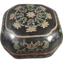 OLD Chinese Paper-Mache Lacquered Box