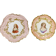 Pair of Limoges Portrait plates