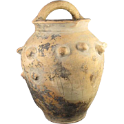 Early Unglazed  Pottery Jar