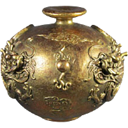 Chinese Gilt Dragon Vase