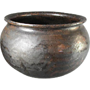 Early Stoneware Glazed Jar