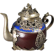 Chinese Plated Tea Pot