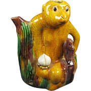 Sancai Glazed Monkey Vase/Pot