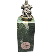 Miniature Bronze Scholar Sculpture