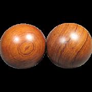 Pair of Chinese Wood Stress Balls