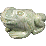 Hard-Stone Frog Sculpture