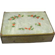 Old Brass Box Hard Stone Plaque