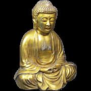 Old Gilt Porcelain Buddha