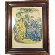 Pr Antique Parisian Fashion Engravings