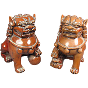 Pr Miniature Foo Lion/Dogs